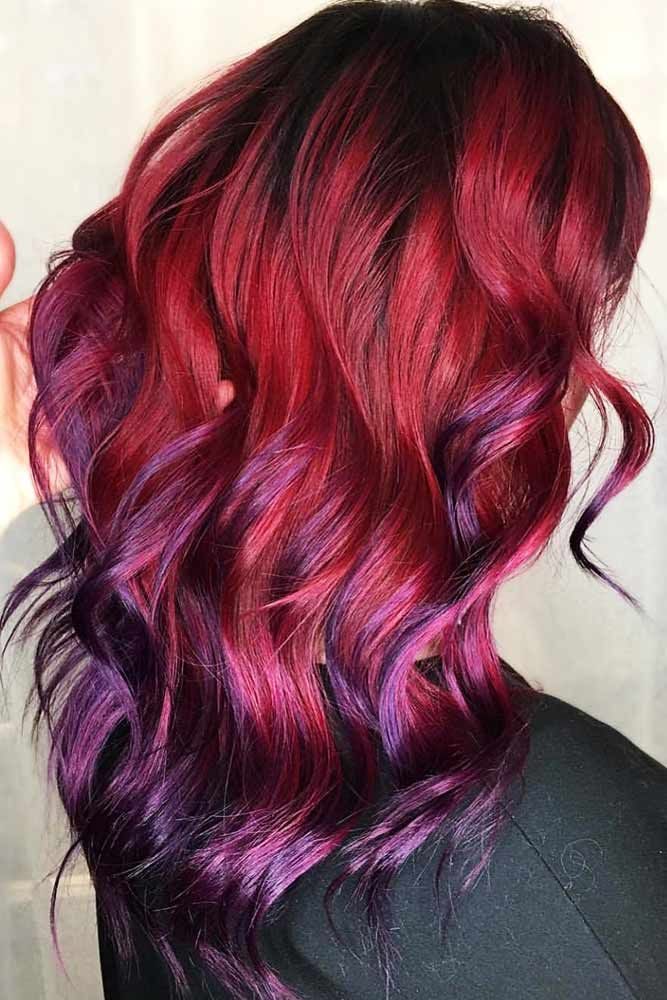 Shades Of Burgundy Ombre Violet #redhair #ombre ❤️ Do you know why so many p...
