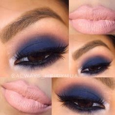 A lover of all things makeup!! for girls over 35: How about a beautiful navy blu...