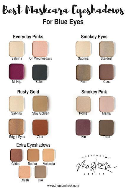 Best eye shadows for BLUE eyes! Maskcara Beauty eye shadows. Eye shadows to make...