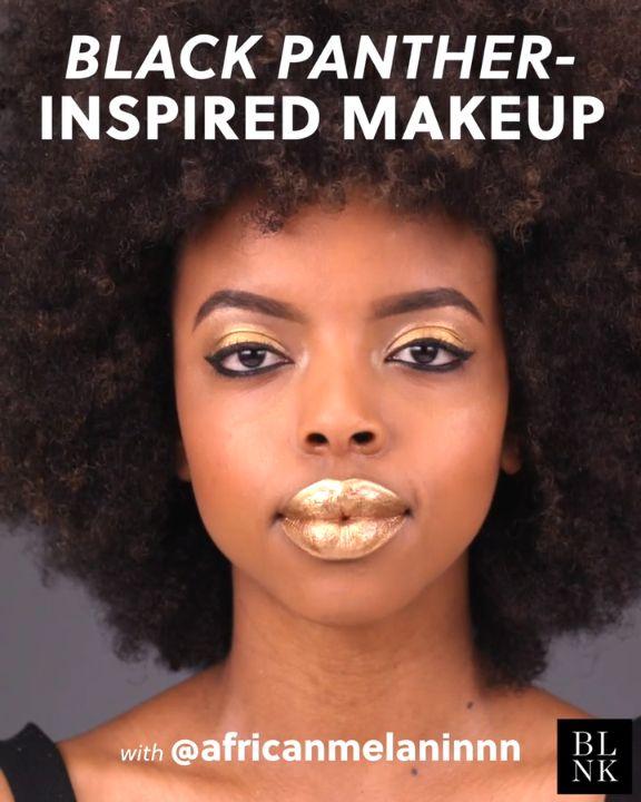 Black Panther-Inspired Makeup #blinkbeauty #beautytutorial #makeuptutorial #blac...
