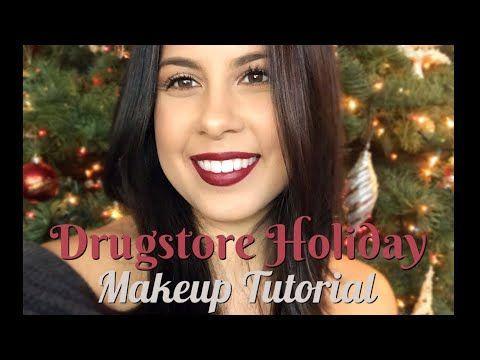 DRUGSTORE HOLIDAY MAKEUP TUTORIAL | For Beginners | Nirina Grace | YouTube     #...