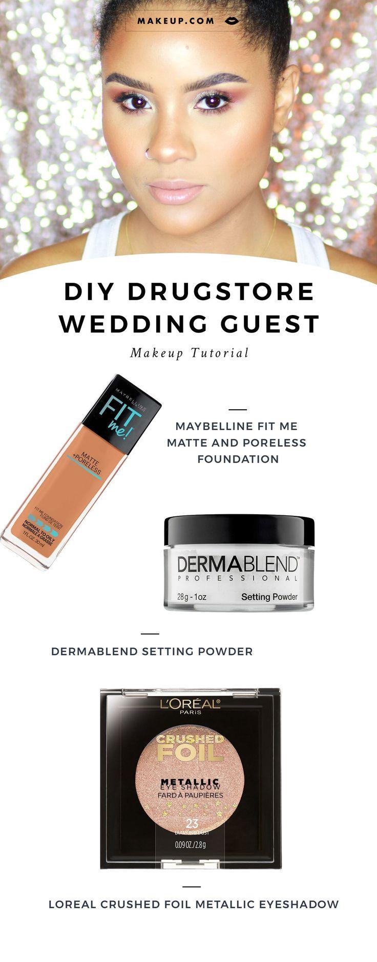 #DrugstoreWeddingMakeup #WeddingGuestMakeup #WeddingGuestMakeupTutorial #MakeupT...