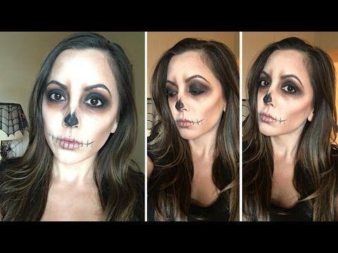 Easy Skull Halloween Makeup Tutorial ⎮⎮ FANCY Lashes & Lips - YouTube
