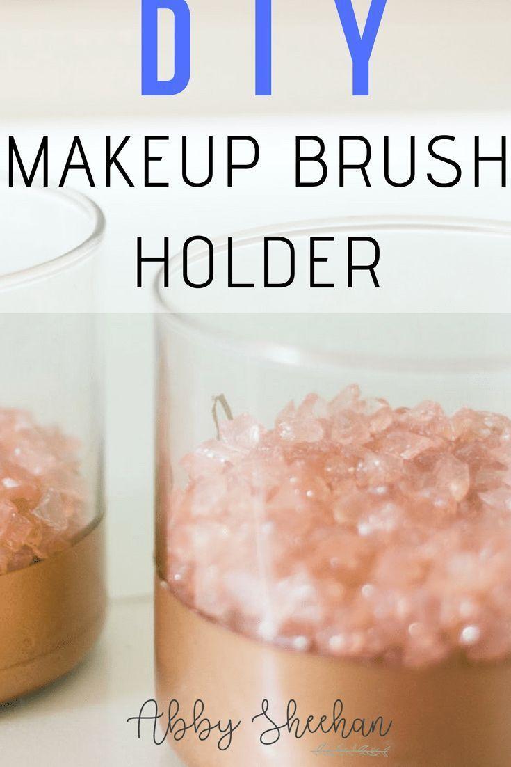 Easy steps to create your own makeup brush holder! DIY | DIY Makeup | Makeup for...