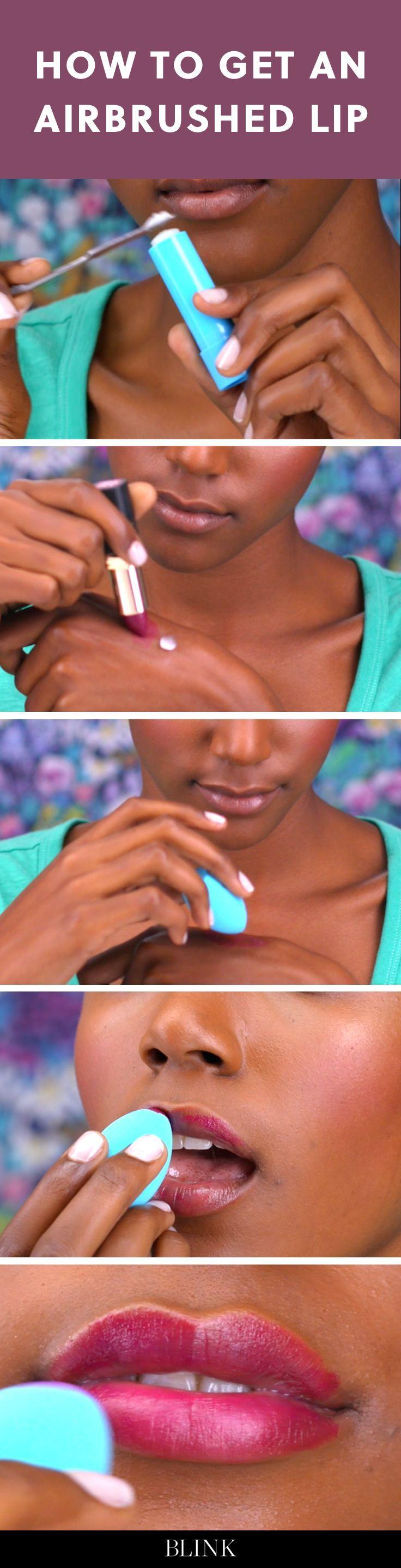 How to Get an Airbrushed Lip #blinkbeauty #makeuptutorial #lipstick