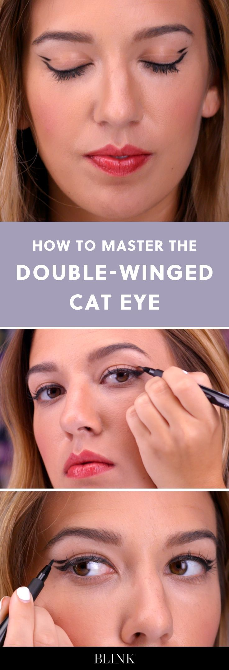 How to Master the Double-Winged Cat Eye #blinkbeauty #cateye #makeuptutorial