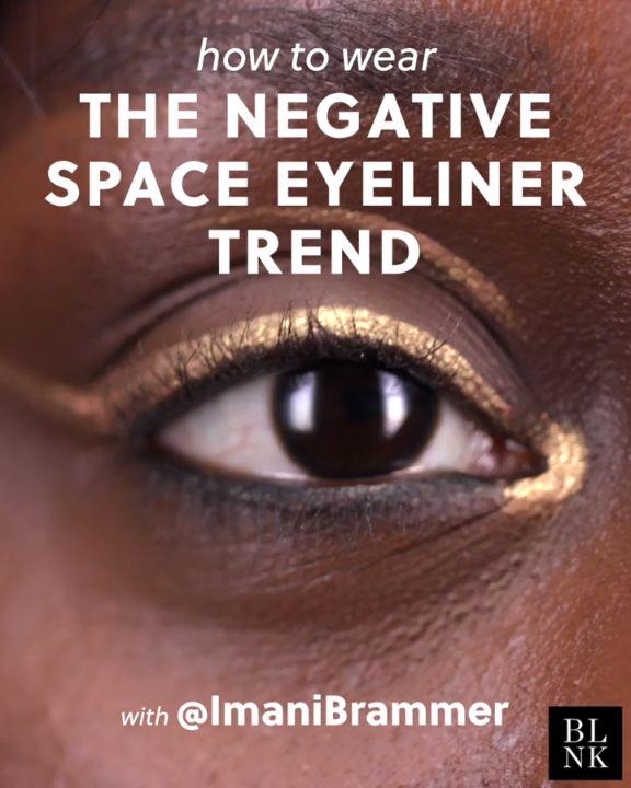 How to Wear the Negative Space Eyeliner Trend #blinkbeauty #beautytutorial #make...