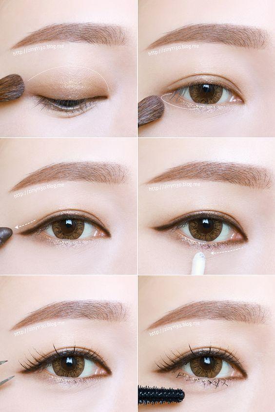 Korean Eye Makeup Tutorial (credits to: ziny1130.blog.me)