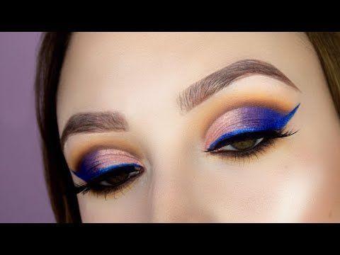 Morphe x Jaclyn Hill Palette Makeup Tutorial // Colorful Cut Crease - YouTube ho...