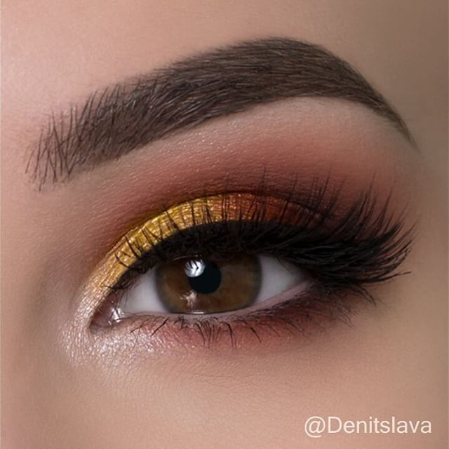 Quick tutorial on a warm eye makeup look with touch of yellow Hope you like it! ...