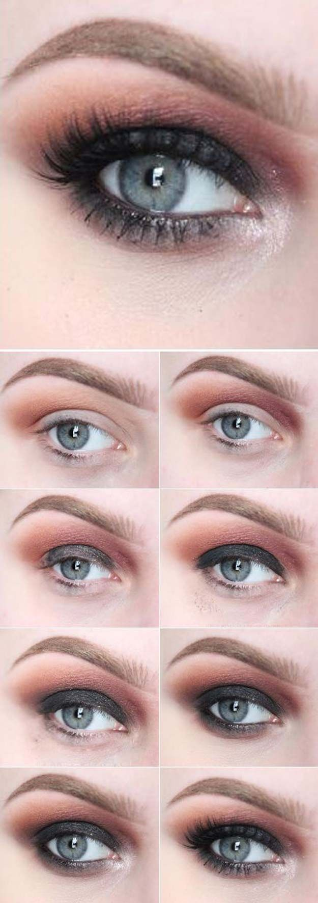 Sexy Eye Makeup Tutorials - Smoky Eyes For Warm Days - Easy Guides on How To Do ...