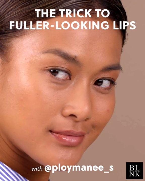 The Trick to Fuller Looking Lips #beautyhack #beautytutorial #makeuphacks #bigge...