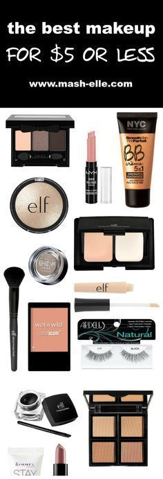 The ultimate roundup of makeup under $5! Featuring brands such as e.l.f, NYC, Ma...