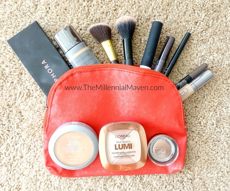 Travel Makeup Bag and Routine