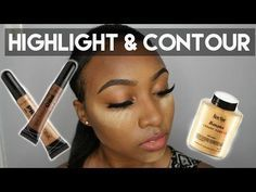 UPDATED Contour And Highlight + Foundation for Black Women Makeup Tutorial 2015 ...
