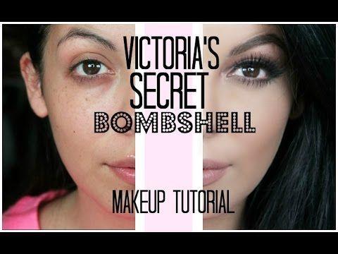 Victoria's Secret Bombshell Makeup Tutorial | SCCASTANEDA - YouTube