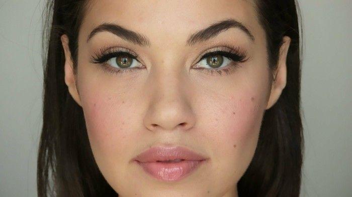 braut make up selber machen dezentes makeup nur lidstrich mascara lipgloss augen...