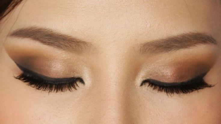 maquillage yeux marron discret eyeliner idée