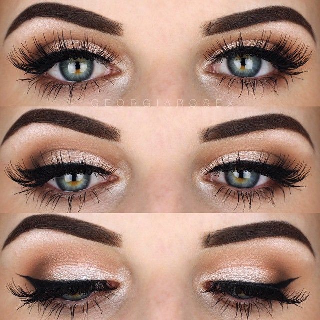 neutral eyes and lush lashes ~ we ❤ this! moncheriprom.com