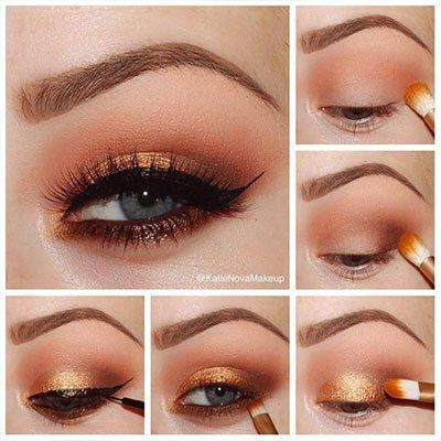 orange-smokey-eyeshadow-makeup-look-blue-eyes