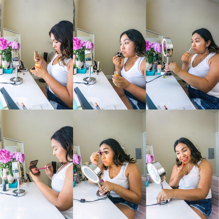 summer makeup, summer makeup routine, glowy makeup, revlon, hourglass, maybellin...