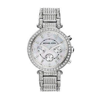 Michael Kors SilverTone Glitz Parker Womens Watch ** Details can be found by cli...