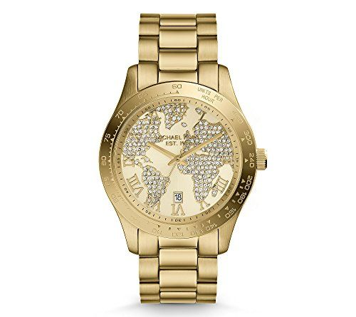 Michael Kors Women's Goldtone Map Layton Watch *** To view further for this ...