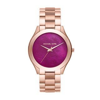 Michael Kors Women's Slim Runway Rose Gold-Tone Watch MK3550 ** Click image ...