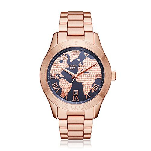 Michael Kors Womens Layton Rose GoldTone Watch MK6395 * Details can be found by ...