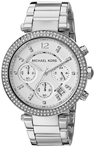 Michael Kors Womens Parker SilverTone Watch MK5353 *** Want to know more, click ...