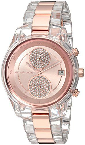 Michael Kors Womens Quartz Stainless Steel Casual Watch ColorRose GoldToned Mode...