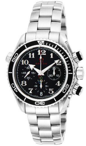OMEGA watches Seamaster Planet Ocean Black Dial 600M waterproof Divers self-wind...