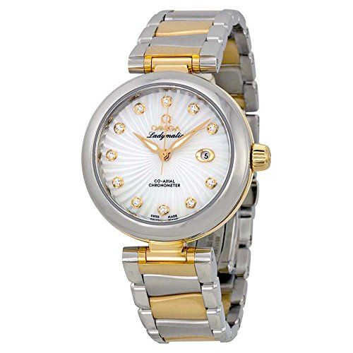 Omega DeVille Ladymatic Mother of Pearl Steel and 18kt Yellow Gold Ladies Watch ...