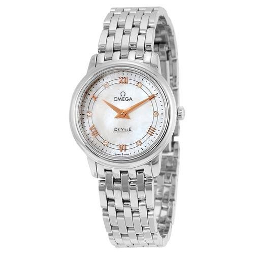 Omega DeVille Mother of Pearl Dial Stainless Steel Ladies Watch 42410276055001 -...