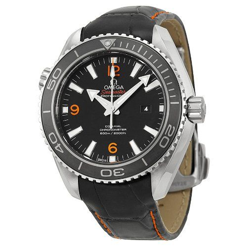 Omega Planet Ocean Black Dial Black Leather Unisex Watch 23233382001002 *** Cont...