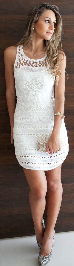 Beautiful crochet dress ♥✤