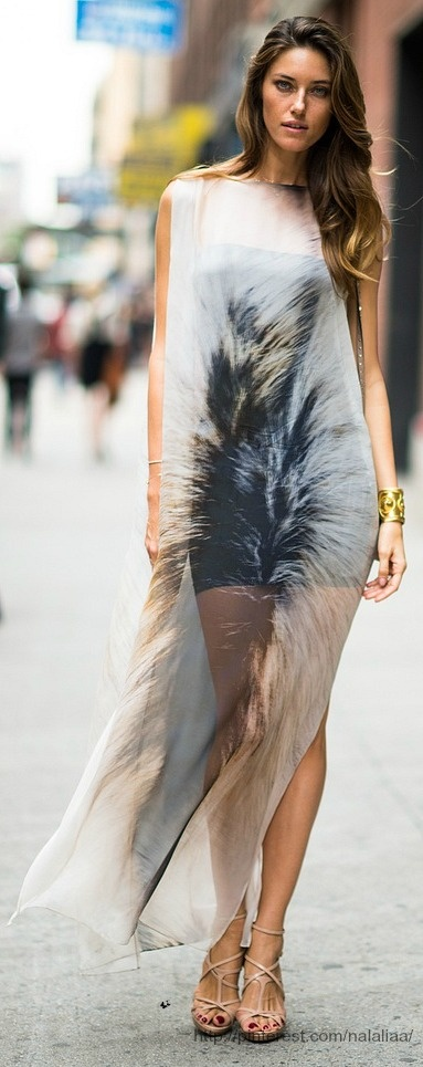 Street style - Nadejda Savcova off-duty in NYC