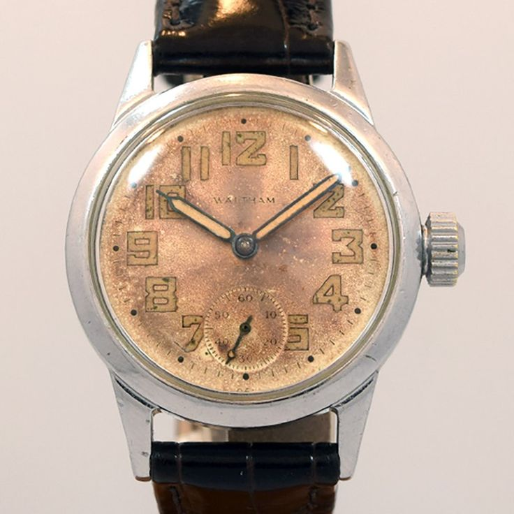 1942 Vintage Waltham WWII-era Military Ref. ORD OF-473033 Base Metal watch with ...