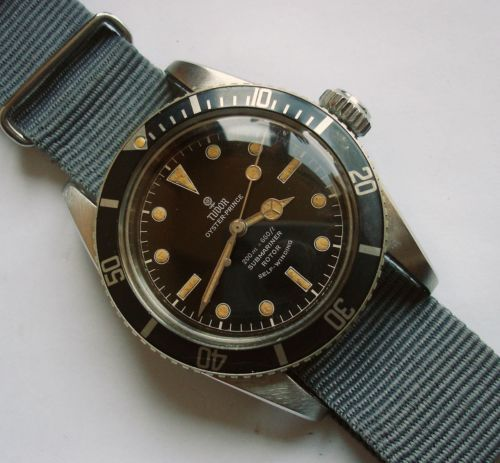 1958 Tudor Submariner 200 660ft Big Crown Divers Ref 7924 for French Navy Relic ...