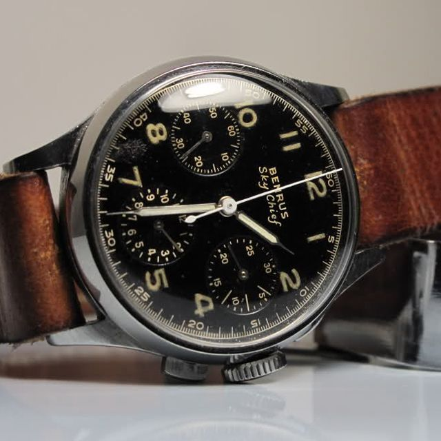 Benrus Sky Chief - one of my all time favorite watches. So much history behind t...