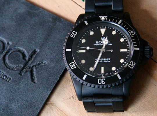 Black Limited Edition Rolex Watches