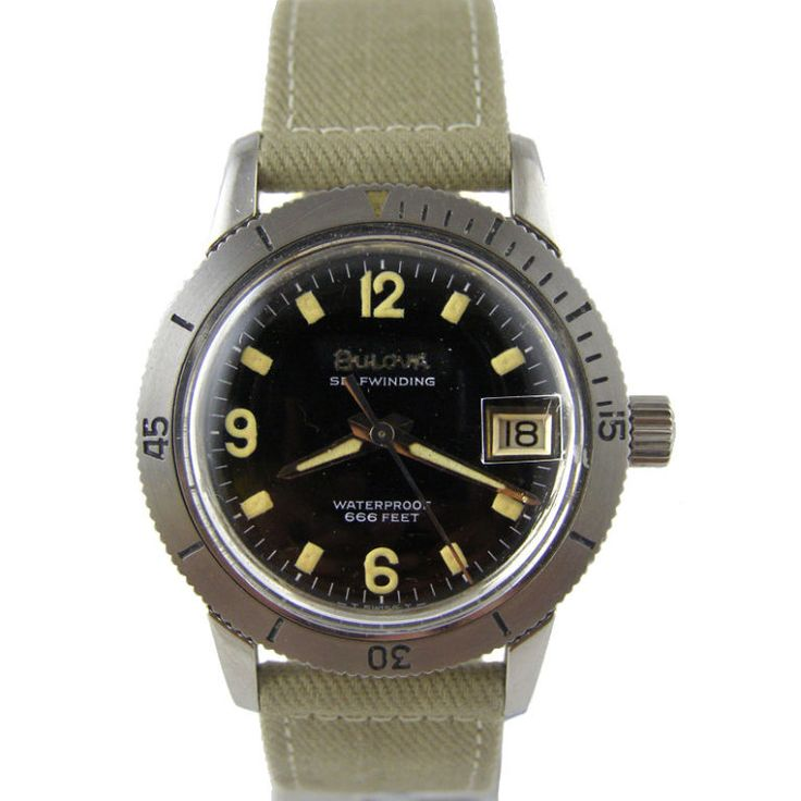 Bulova Stainless Steel Diver's Watch c.1960 1