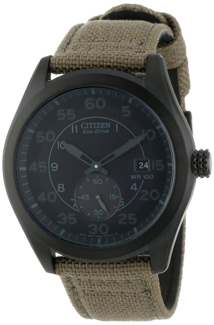 Amazon.com: Citizen Men's BV1085-31E  Eco-Drive Tan Nylon Strap Watch: Citizen: Watches