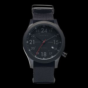Electric Watch FW01 Nato-All Black. A daily driver for the geographically curiou...