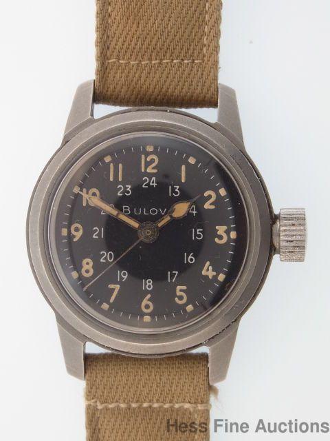Genuine Bulova Hacking World War US Military Mens Working Wrist Watch #Bulova #M...