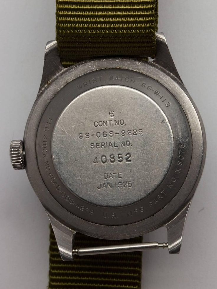 Hamilton US Military Issue Vietnam Era Wristwatch c. 1975 4