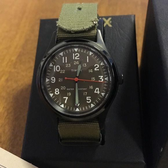 J. Crew Accessories - Timex Vintage Collection W92 J. Crew Green Watch