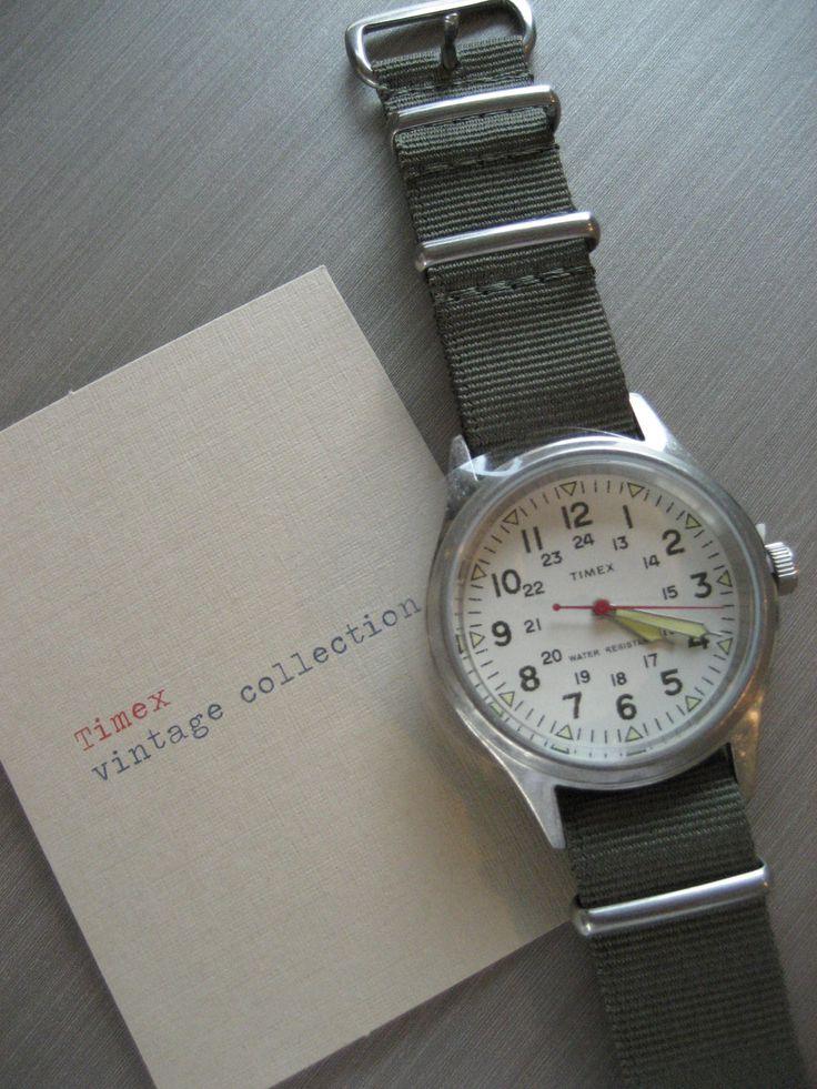 Jcrew Timex Series, vintage military... My beach watch