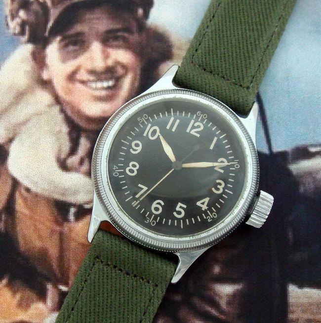 Men's 1944 Elgin WWI A-11 Aviator's Wrist Watch | Strickland Vintage Watches