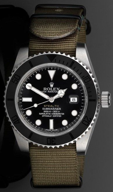 "Project X Designs ""Stealth"" Customized Rolex Submariner Watch"